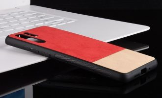 "Maskice za Huawei: Dvobojna hibridna maska ""Splice"" za Huawei P30 Pro - bež crvene"
